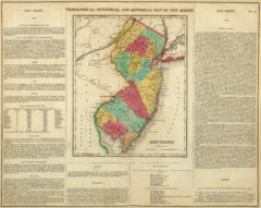 1822 Geographical, Historical and Statistical State Map of New Jersey