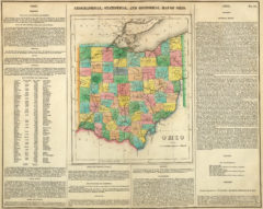 1822 Geographical, Historical and Statistical State Map of Ohio