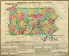 1822 Geographical, Historical and Statistical State Map of Pennsylvania