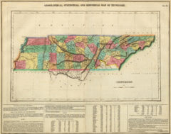 1822 Geographical, Historical and Statistical State Map of Tennessee