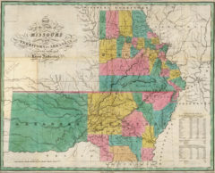1827 State Map of Missouri, Arkansas and Oklahoma