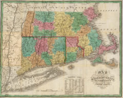 1827 State Map of Connecticut, Massachusetts and Rhode Island