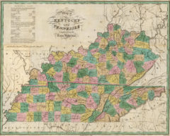 1827 State Map of Tennessee and Kentucky