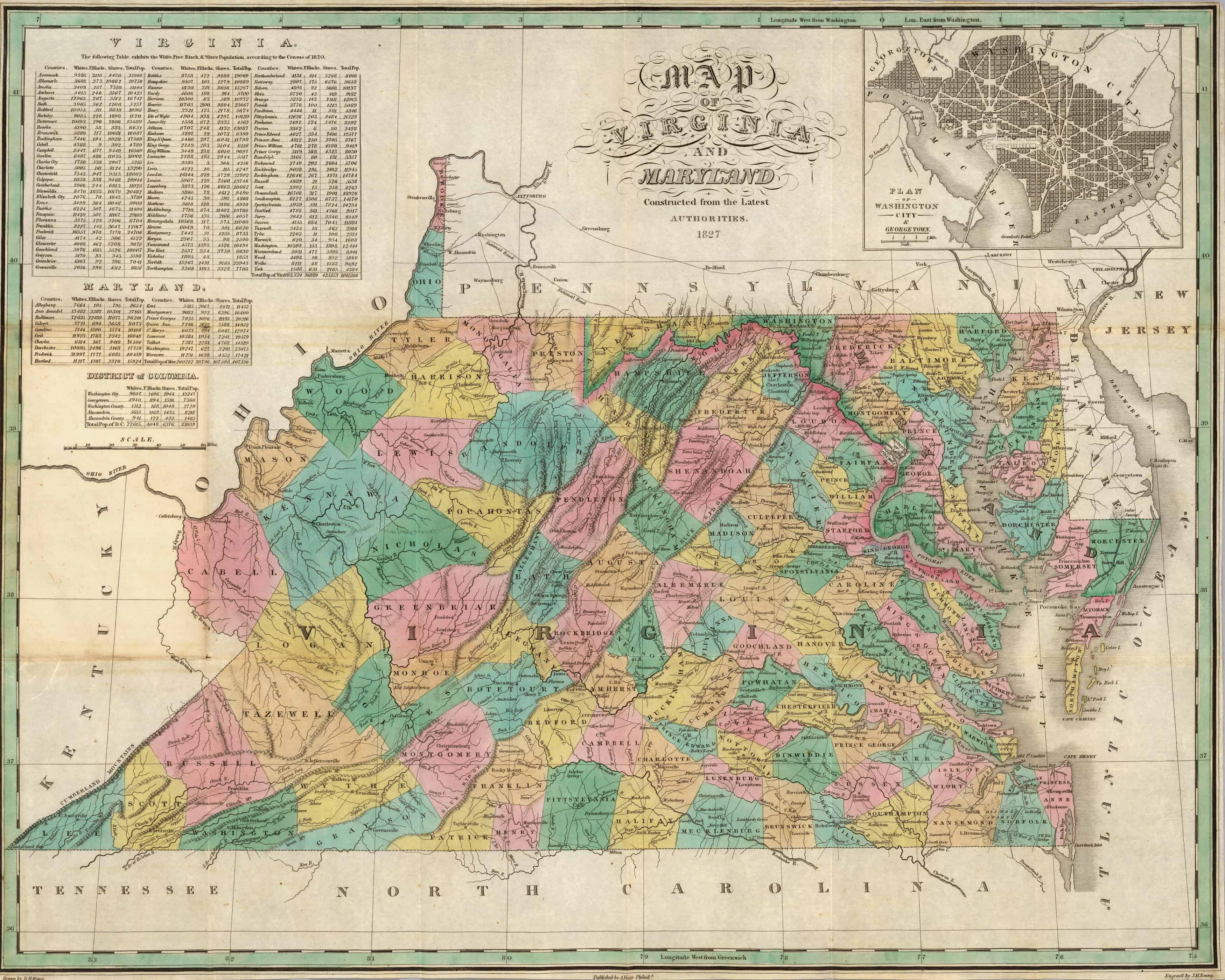 Old Historical City, County and State Maps of Virginia on map of virginia in 1825, map of virginia historical sites, map of virginia ohio, map of virginia in 1850, map of virginia in 1860, map of virginia in 1822, map of virginia va,