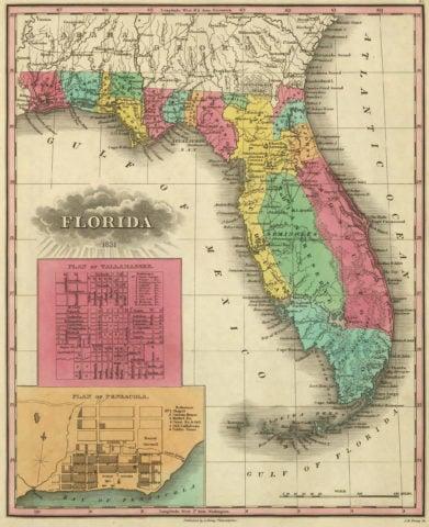 1831 Map of Florida