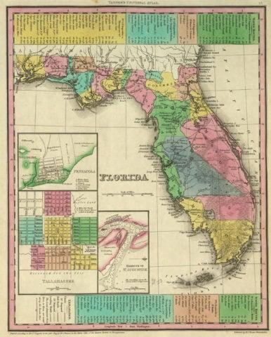 1836 Map of Florida