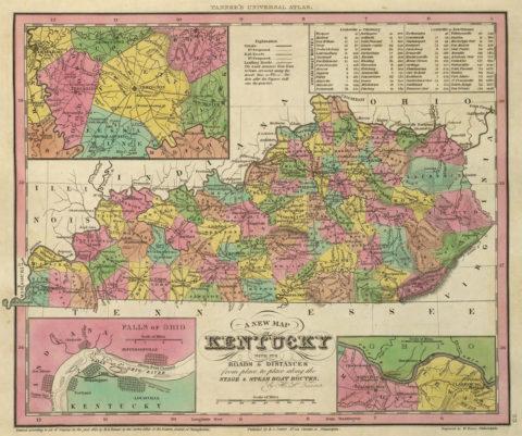 1836 Map of Kentucky