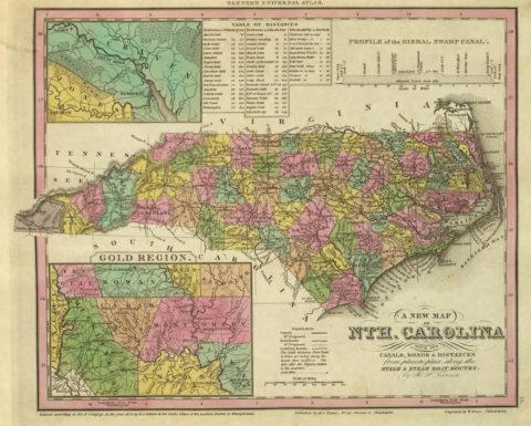 1836 Map of North Carolina