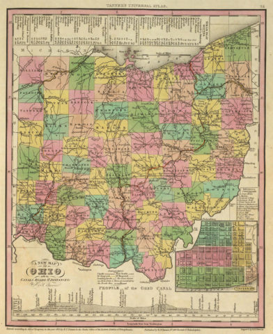 1836 State Map of Ohio