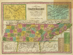 1836 State Map of Tennessee