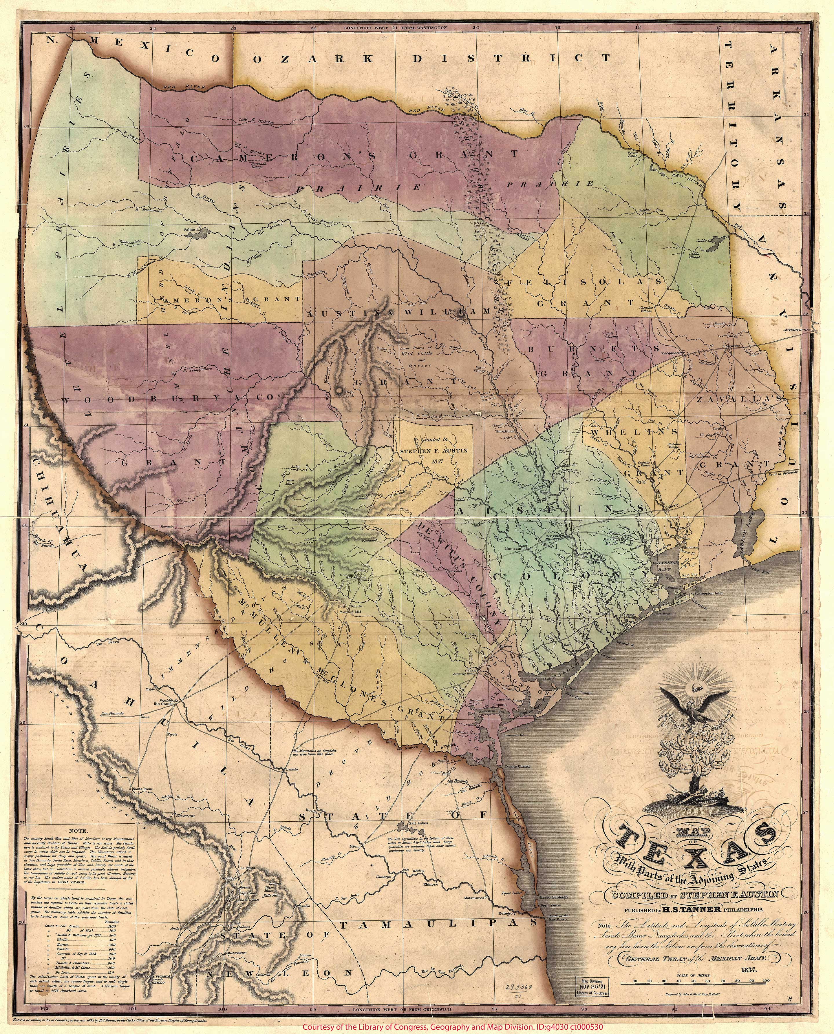 Old Historical City, County and State Maps of Texas