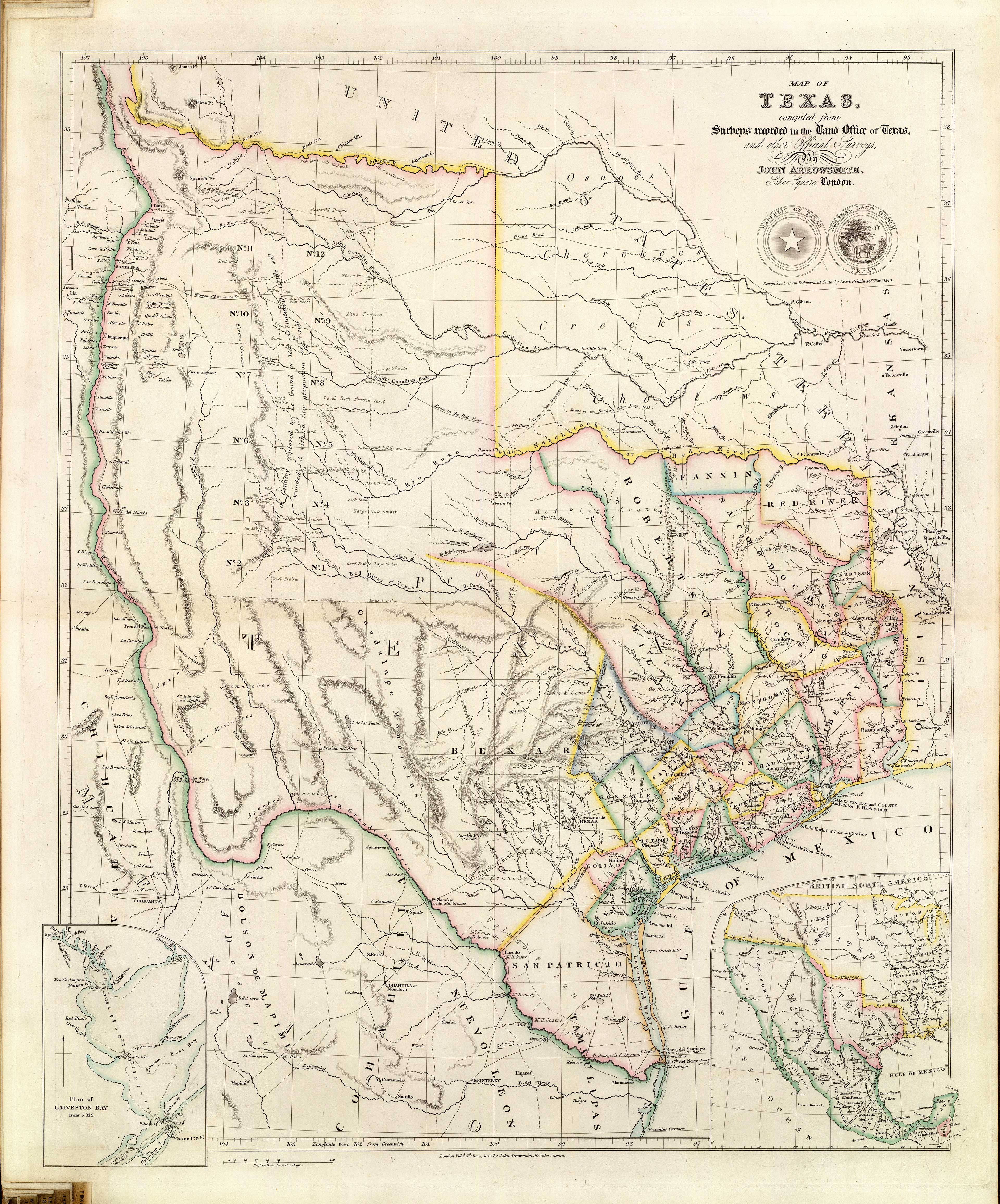 Old Historical City County And State Maps Of Texas