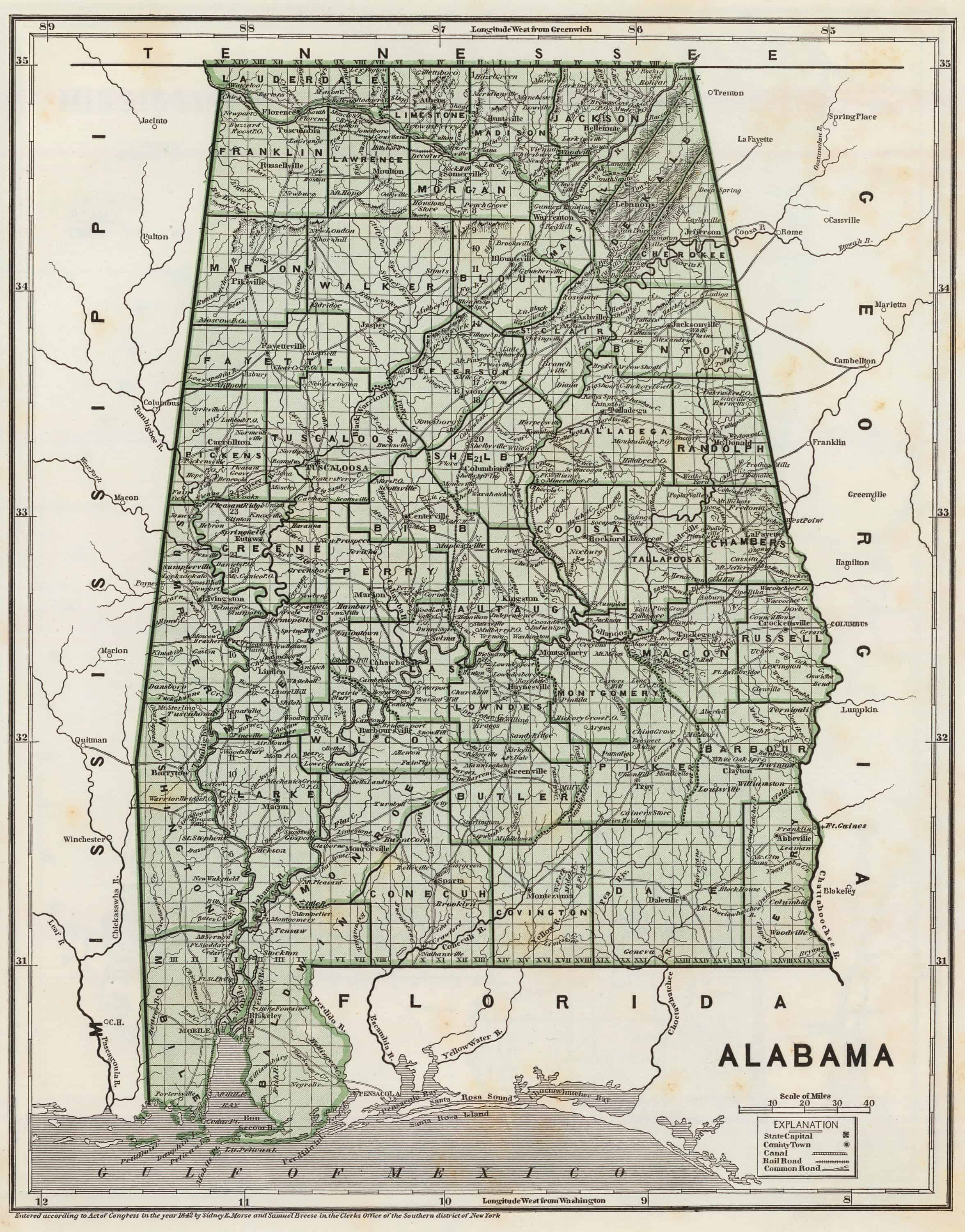 Old Historical City, County and State Maps of Alabama on highway map of alabama, books of alabama, old county road map alabama, cities and towns in alabama, map of mount vernon alabama, map of places to visit in alabama, old railroad maps alabama, map of mississippi and alabama, old maps vermont, mountain ranges map of alabama, old houses in mobile alabama, old maps nebraska, old maps maryland, old california maps, old maps minnesota, physical map of alabama, old federal road jasper alabama, fort stoddert alabama, large map of alabama, the map of alabama,