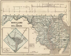 1845 Map of Maryland and Delaware