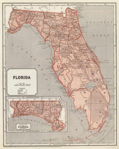 1845 Map of Florida