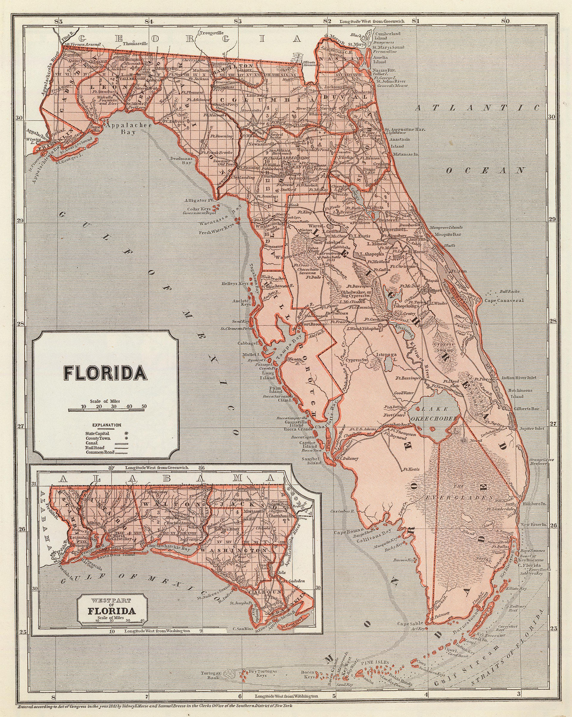 Picture of: Maps Of Florida Historical Statewide Regional Interactive Printable