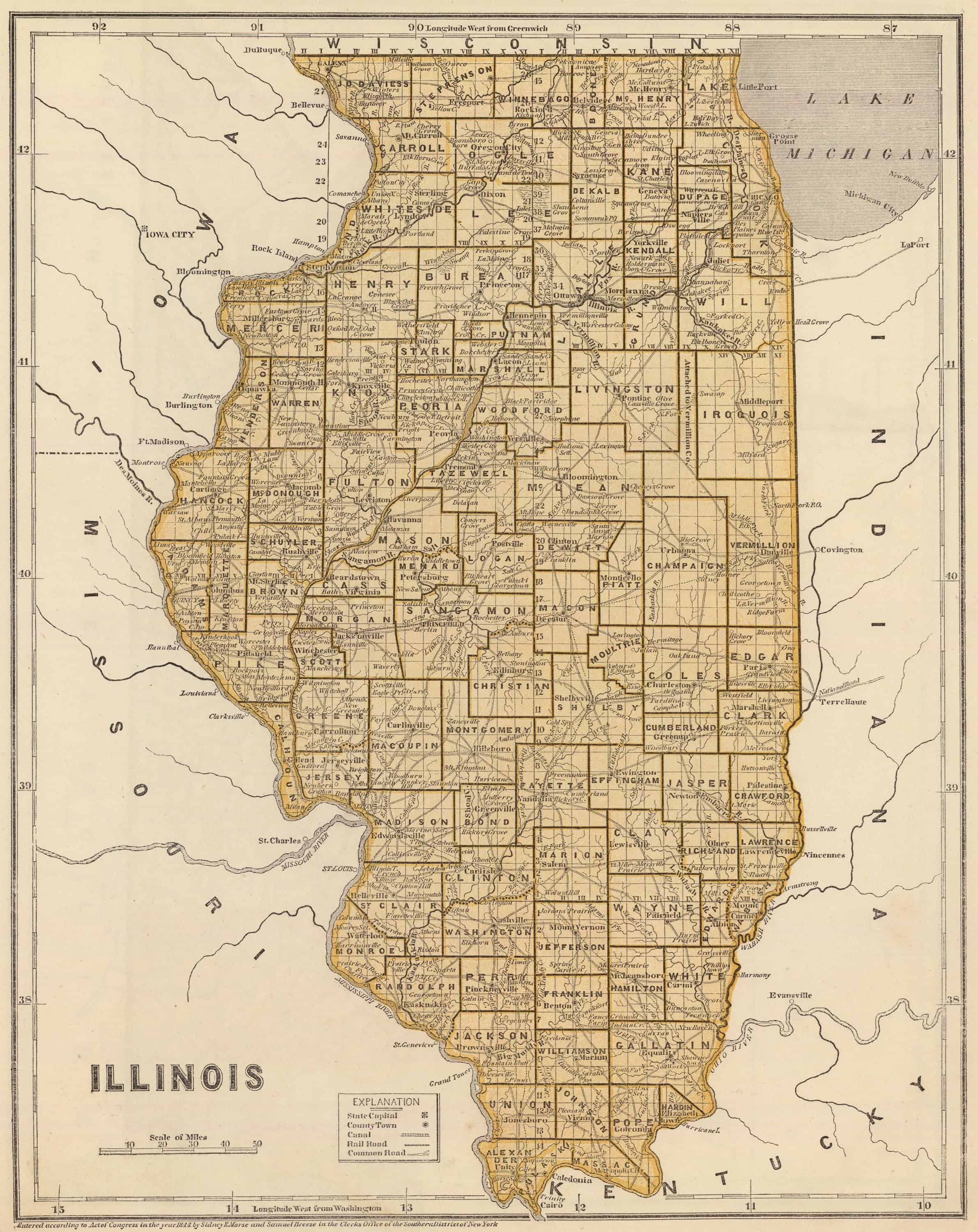 Old Historical City, County and State Maps of Illinios on il counties and cities, il zip code map, il highway map, illinois cities, il county map, il state map, il hwy map,