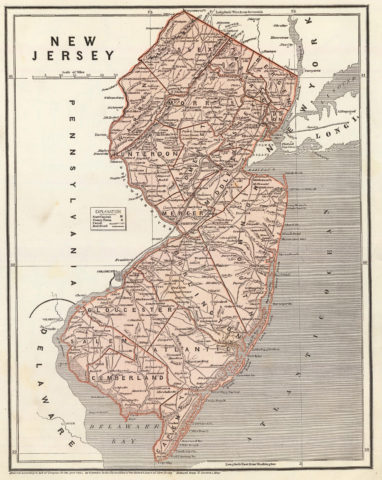 1845 State Map of New Jersey