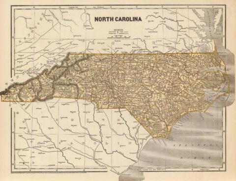 1845 Map of North Carolina