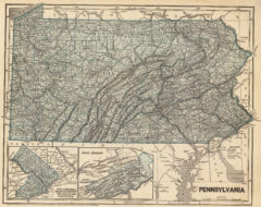 1845 State Map of Pennsylvania