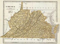 1845 State Map of Virginia