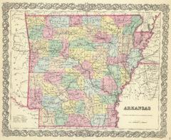 1856 State Map of Arkansas