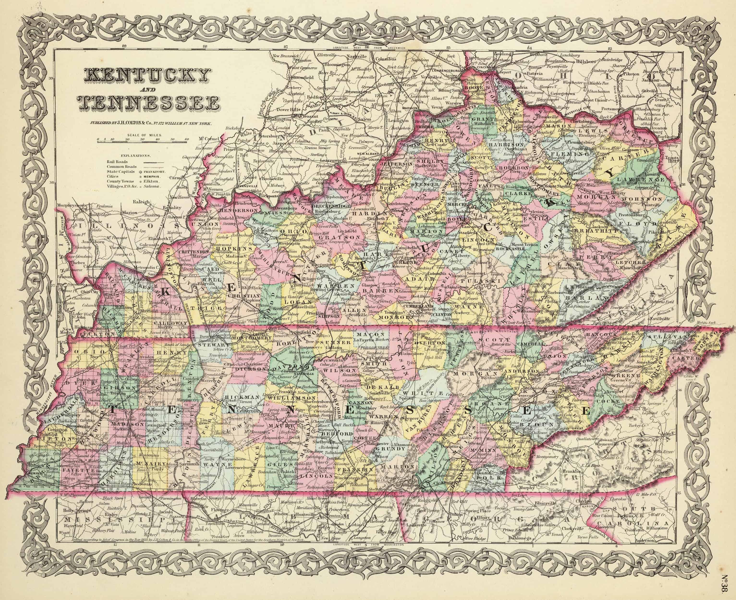 1839 KY MAP MASON MEADE MENIFEE MERCER METCALFE MONROE COUNTY Kentucky History
