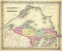 1856 Map of Lake Superior and the Northern Part of Michigan