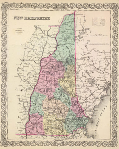 1856 State Map of New Hampshire