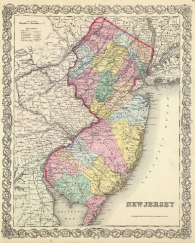 1856 State Map of New Jersey