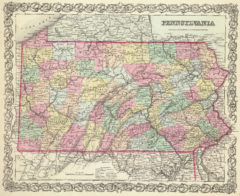 1856 State Map of Pennsylvania