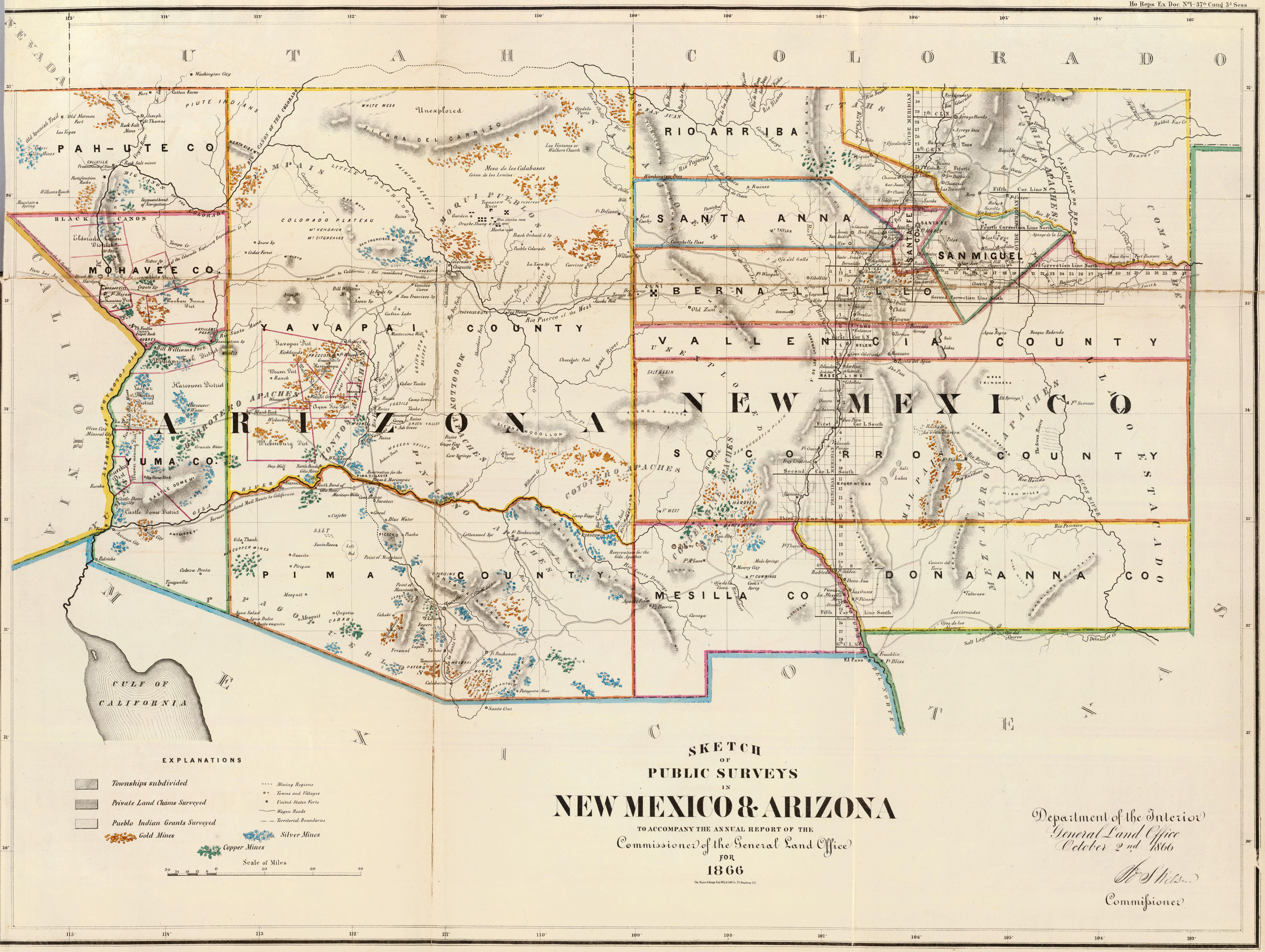 Old Historical City, County and State Maps of Indiana