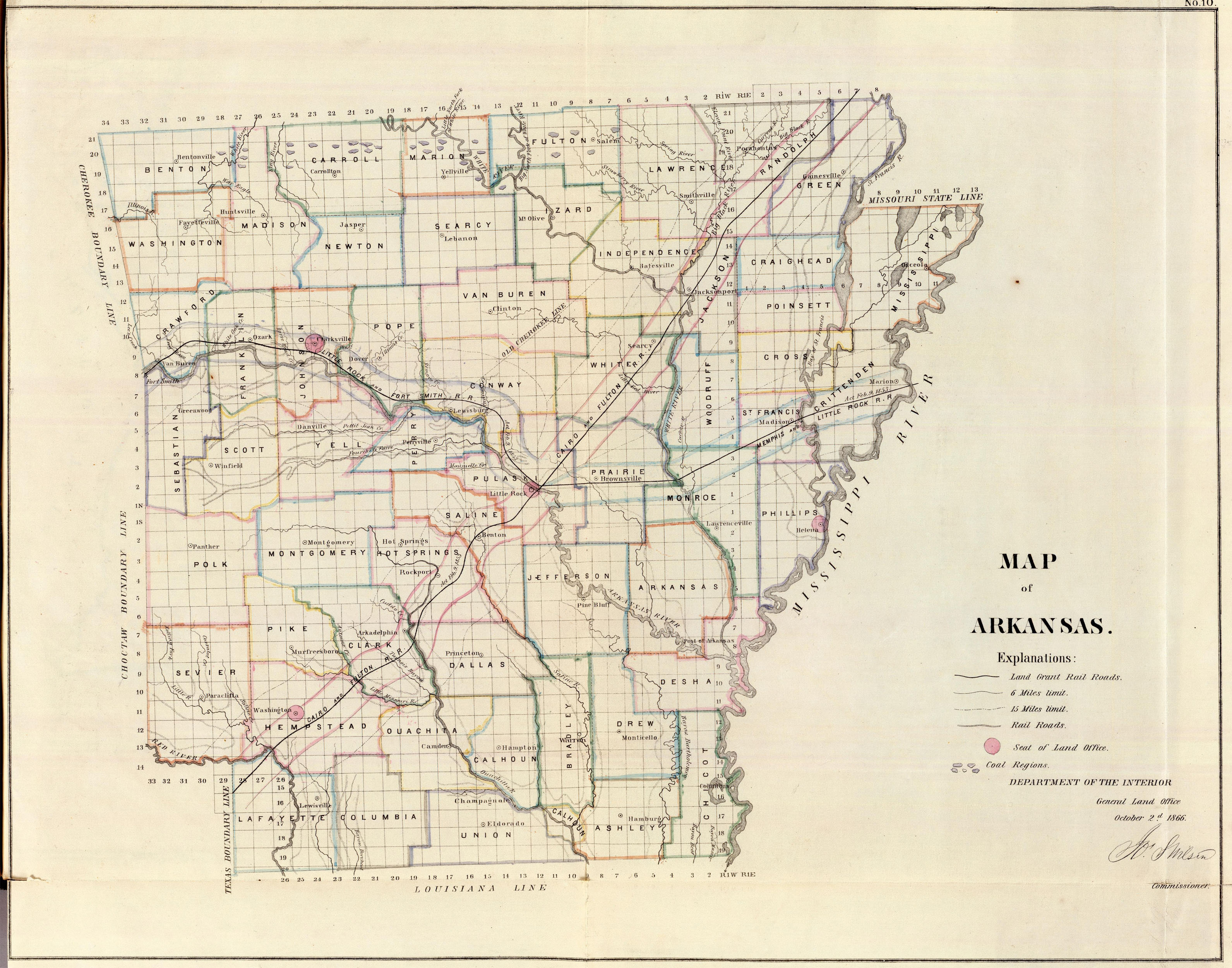 map of western arkansas Old Historical City County And State Maps Of Arkansas map of western arkansas