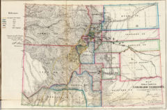 1866 Map of Colorado Public Survey Sketches by the Department of Interior Land Office