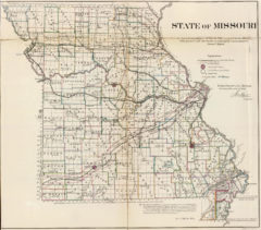 1866 State Map of Missouri Public Survey Sketches by the Department of Interior Land Office
