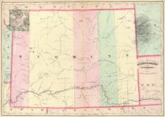 1874 State Map of the Wyoming Territory
