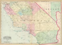 1874 Map of Nevada and Southern California