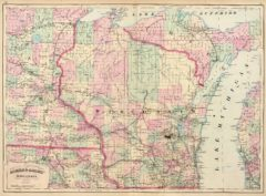 1874 State Map of Wisconsin