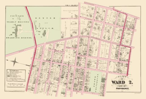 1875 Providence, Ward 2 Rhode Island Landowner Map
