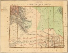 1876 State Map of the Wyoming Territory