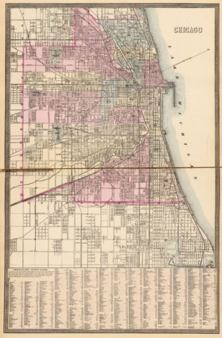 1880 City Map of Chicago