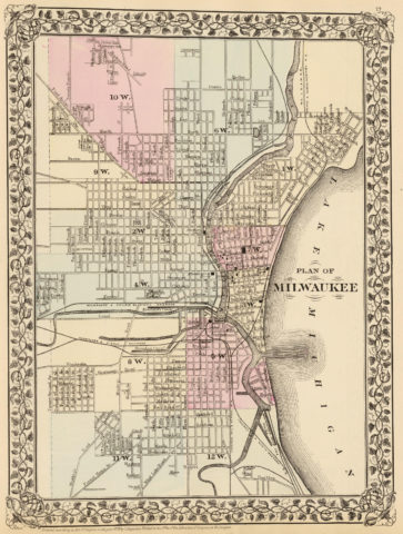 1880 City Map of Milwaukee