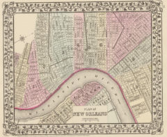 1880 City Map of New Orleans