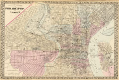 1880 City Map of Philadelphia and Camden