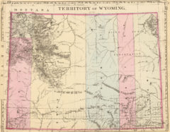 1880 State, County and Township Map of Wyoming Territory