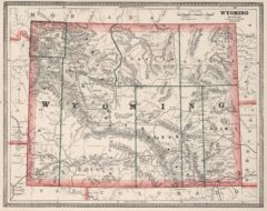 1883 Map of the Wyoming Territory