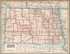 1893 State Map of North Dakota