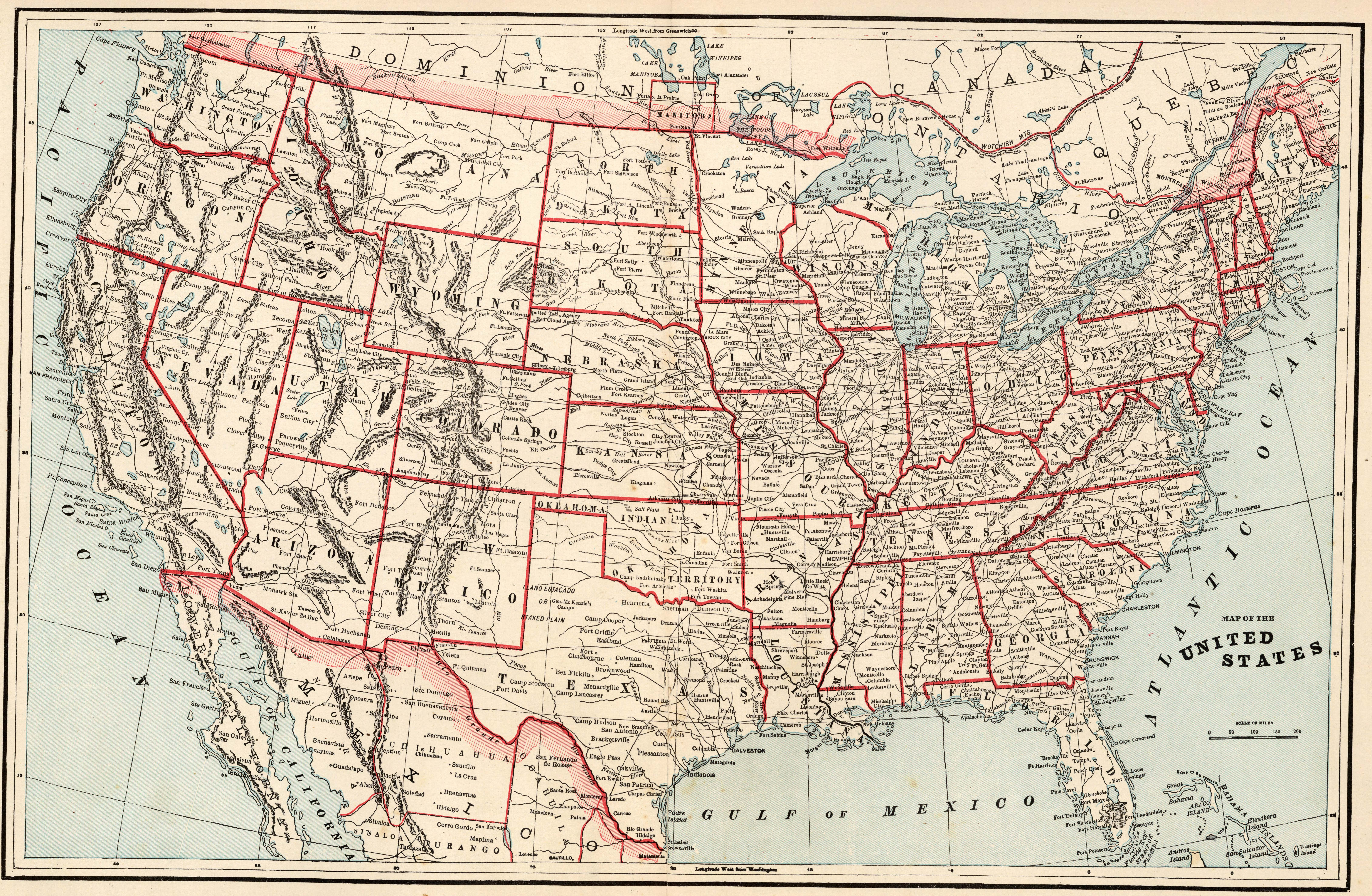 US Map Collection - Old Historical U.S. and State Maps
