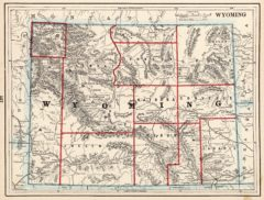 1893 State Map of Wyoming