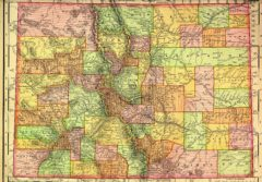 1895 State Map of Colorado